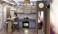 Квартира в стиле лофт с элементами вестерна.