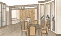 Эскизы гостиной в классическом стиле