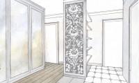 Эскизы интерьеров квартиры. Сетуньский проезд