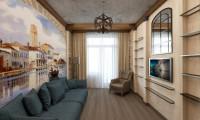 Дизайн-проект квартиры в стиле эклектичный Лофт.