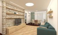 Эко-дизайн квартиры в современном стиле.