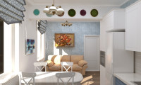 Дизайн проект гостиной в средиземноморском стиле