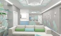 Дизайн проект гостиной в квартире на ул. Угрешская