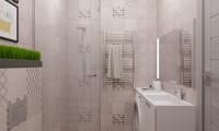 Ванная в квартире-студии