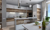 Кухня в двухкомнатной квартире на ул. Пудовкина