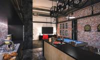 Кухня в квартире в стиле индустриальный лофт