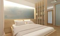 Дизайн проект спальни в современном стиле софт минимализм