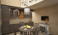 Кухня в двухуровневой квартире