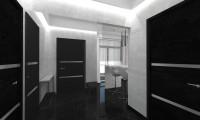 Прихожая в стиле минимализм в квартире в ж/к Мосфильмовский