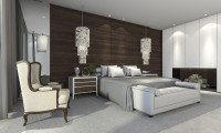 Спальня в пентхаусе