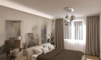 Дизайн спальни в современном стиле в квартире на ул. Планетная