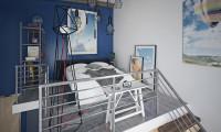 Спальня в студии в стиле Лофт