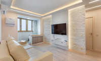 Дизайн и ремонт гостиной в квартире на Смоленском б-ре
