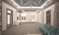 Гостиная в коттедже п.Стольное