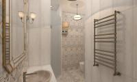 Дизайн ванной в средиземноморском стиле на ул. Гражданская