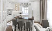 Кухня в двухуровневой квартире на ул. Авиационная