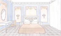 Спальня в квартире на ул.Маршала Жукова