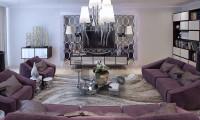 Хрустальный мир. Оригинальный дизайн-проект  2-х уровневой квартиры в стиле Ар-Деко в ж/к «Белый лебедь».