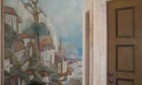 Роспись кабинета. Город у моря