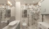 Дизайн ванной в современном стиле на Смоленском б-ре