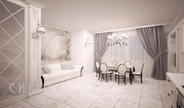 Гостиная в квартире на ул.Академика Павлова