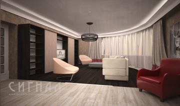 Гостиная в квартире на ул. Гарибальди