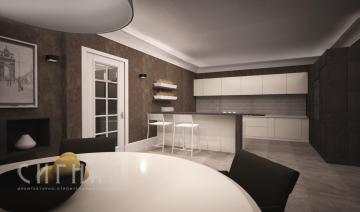 Кухня в квартире на ул. Гарибальди