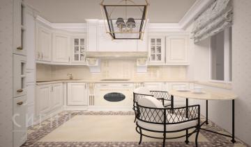Кухня в классическом стиле в квартире на пр-те Вернадского