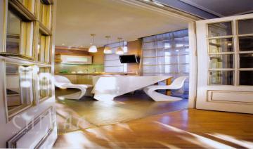 Мера эклектики. Дизайн проект эпатажной квартиры на Арбате.