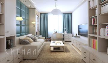 Гостиная в квартире на ул. Твардовского.