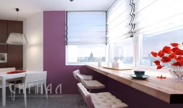 Кухня в квартире на Бережковской набережной