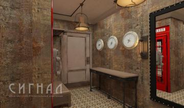 Дизайн прихожей в стиле Лофт в квартире на ул. Полярная