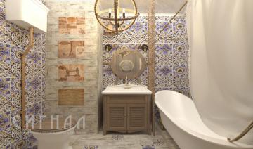 Дизайн ванной в морском стиле